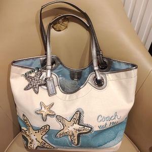 NWOT Coach Starfish Sea star Blue Canvas Summer Ha